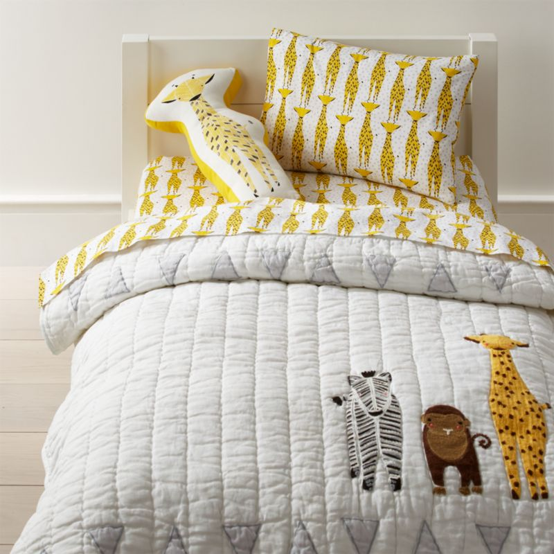 Savanna Toddler Bedding Giraffe Crate And Barrel With Images