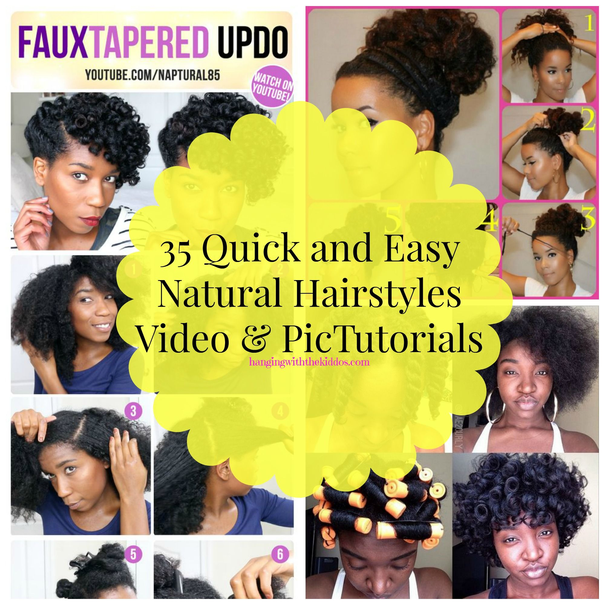 24+ Quick easy natural hairstyles inspirations