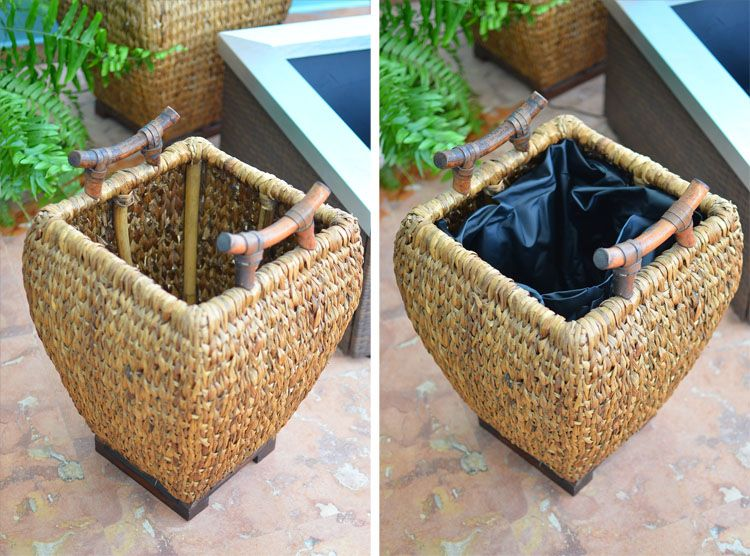 """Line any container with a pond liner (or heavy duty trash bag!) for an """"insta-fountain"""""""