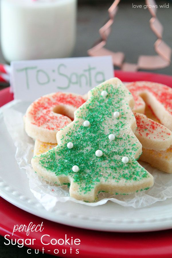 Perfect Sugar Cookie Cut-outs #sugarcookies