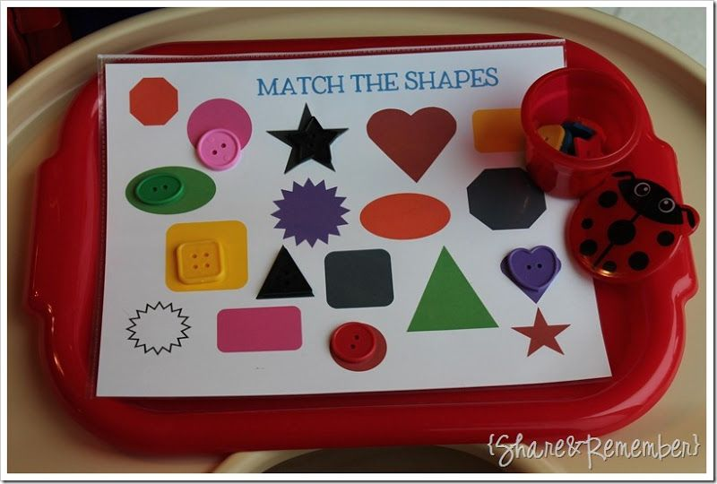 Preschool Activity Trays 2 -