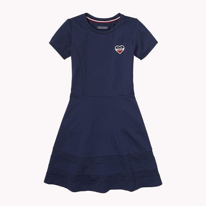 Th Kids Heart Short Sleeve Dress Tommy Hilfiger Kurze Kleider Mit Armeln Tommy Hilfiger Kleider