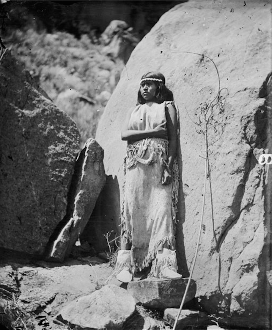 Ku Ra Tu Paiute Woman In Native Dress With Ornaments Hillers 1873 Picture 2 Native American Images Native American Tribes Native American Indians