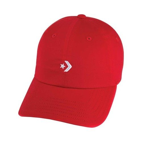Men s Converse Single Star Chevron Dad Cap - Enamel Red Hats ... 09cb2cd85a02