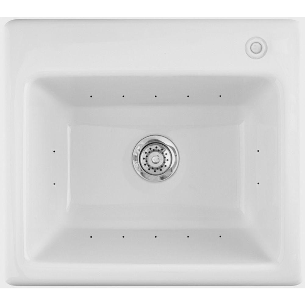 Aquatic Delicair Ii 25 In X 22 In Acrylic Drop In Laundry Sink
