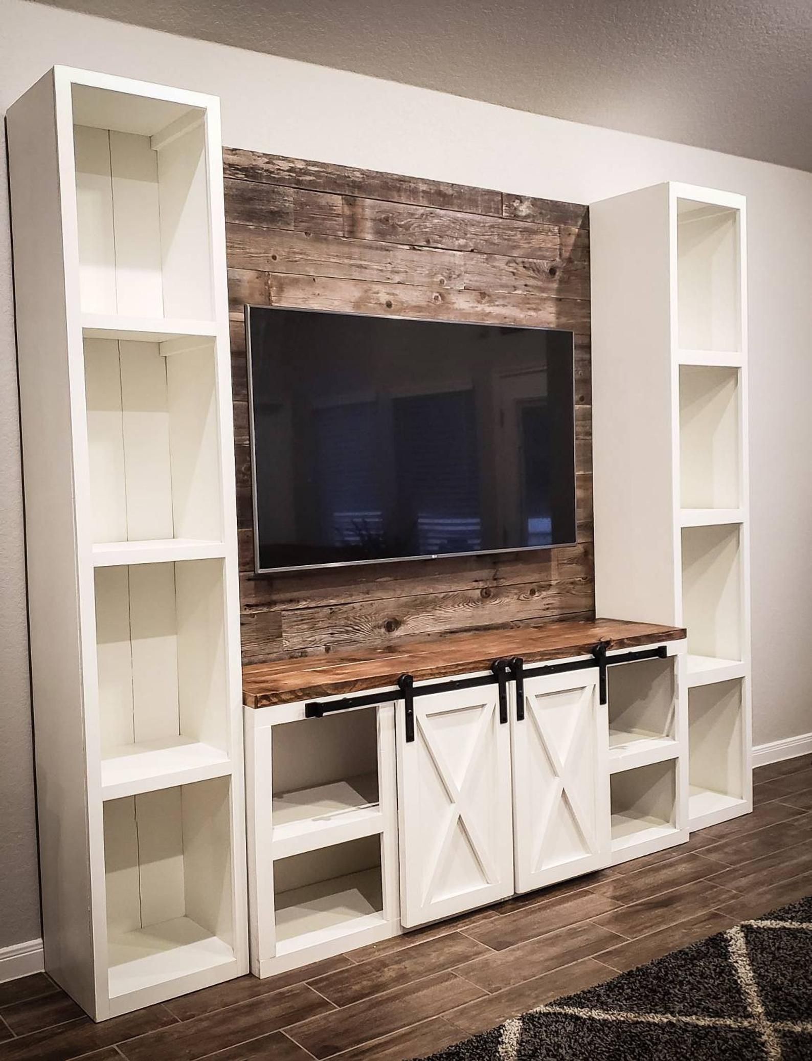 Farmhouse Entertainment Center Rustic Entertainment Center Etsy Farmhouse Tv Console Farmhouse Entertainment Center Home