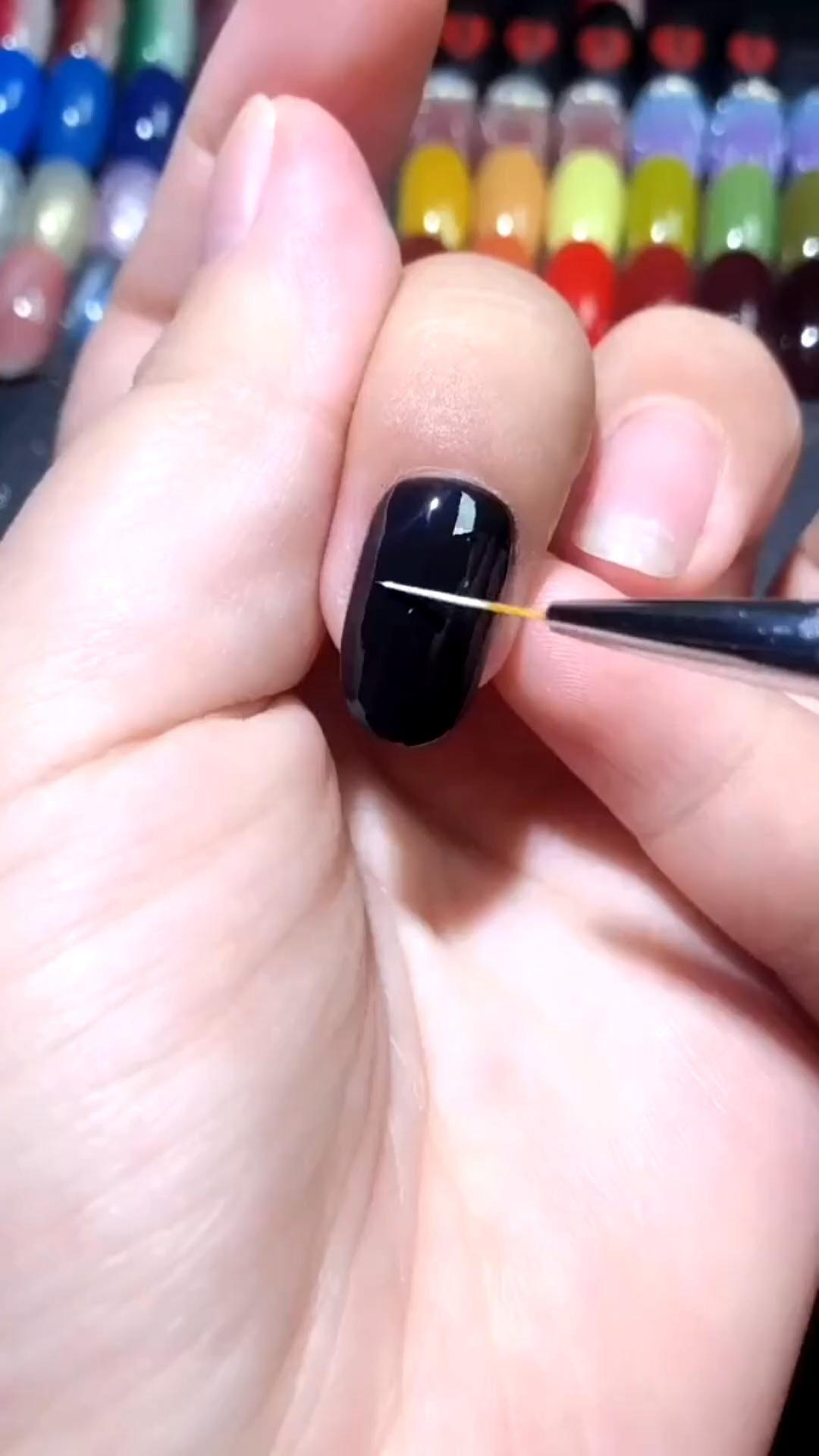 Simple nails art design video Tutorials