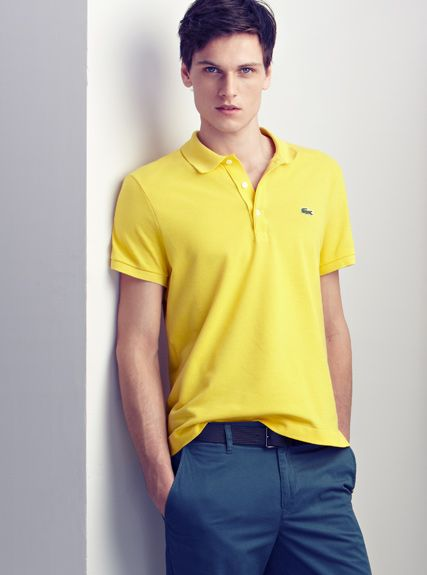 077cd502db LACOSTE | Outfit ideas | Polo shirt outfits, Yellow polo shirt ...