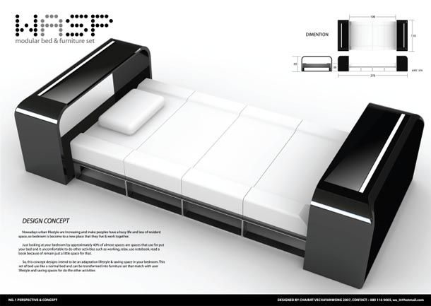 Futuristic Beds futuristic beds design concept   make the most of space