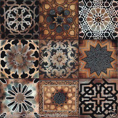 Old World Art Tile Kitchen Back Splash Ceramic Mosaic Turkish Mediterranean
