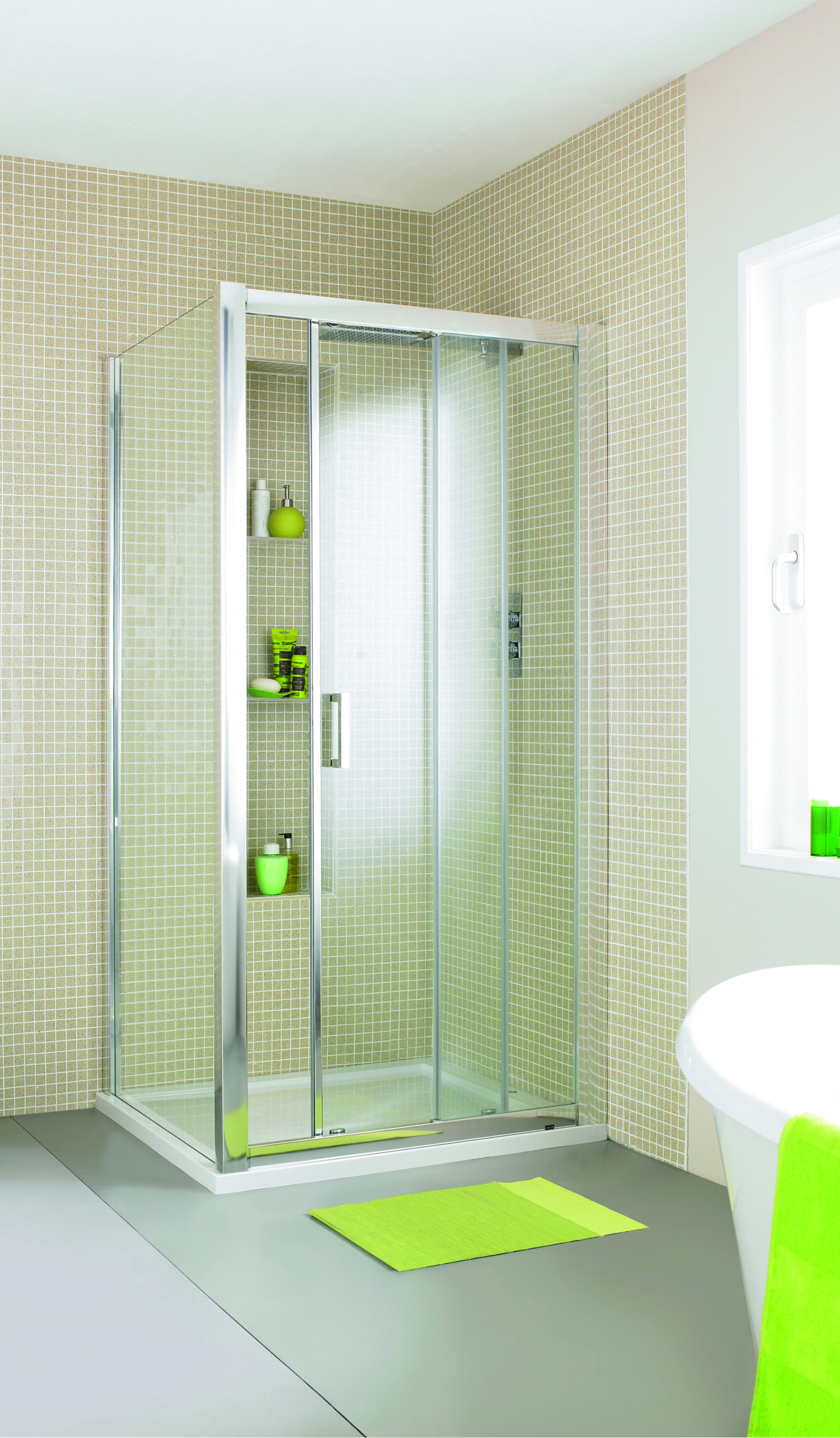 The Matrix Sliding Door Shower Enclosure available in various sizes ...