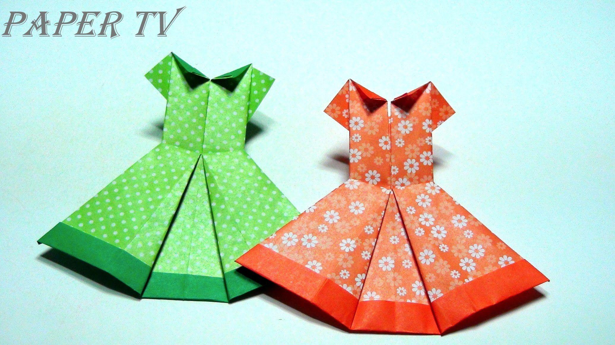 Paper Tv Origami Dress 종이접기 드레스 折り紙 ドレス Como