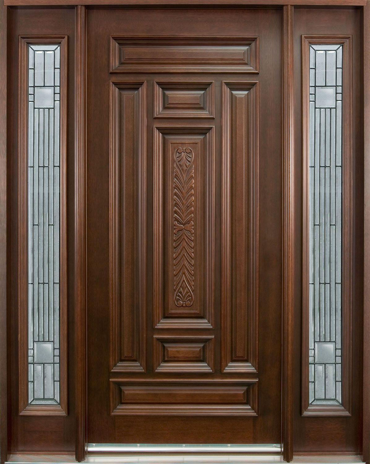 Classic Door Design double hinged doors Architecture Classic Main Door Design Using Stained Glass Window