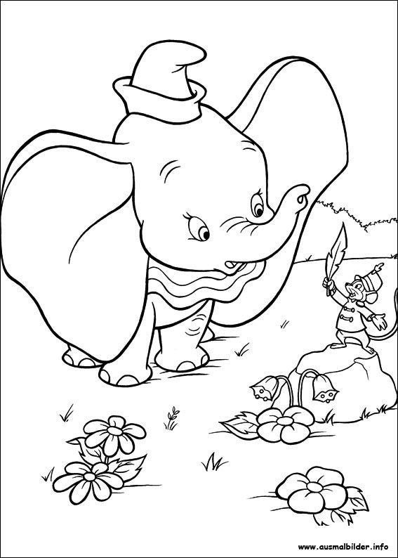 Dumbo malvorlagen | Ausmalbilder | Pinterest | Ausmalbilder zum ...