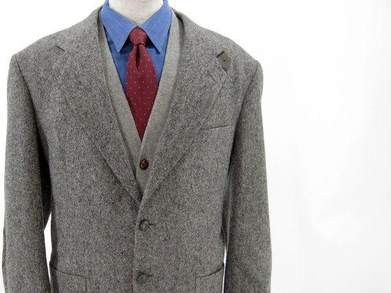 SALE Vintage Grey Tweed Sport Coat Gray by IvyVintageCompany ...