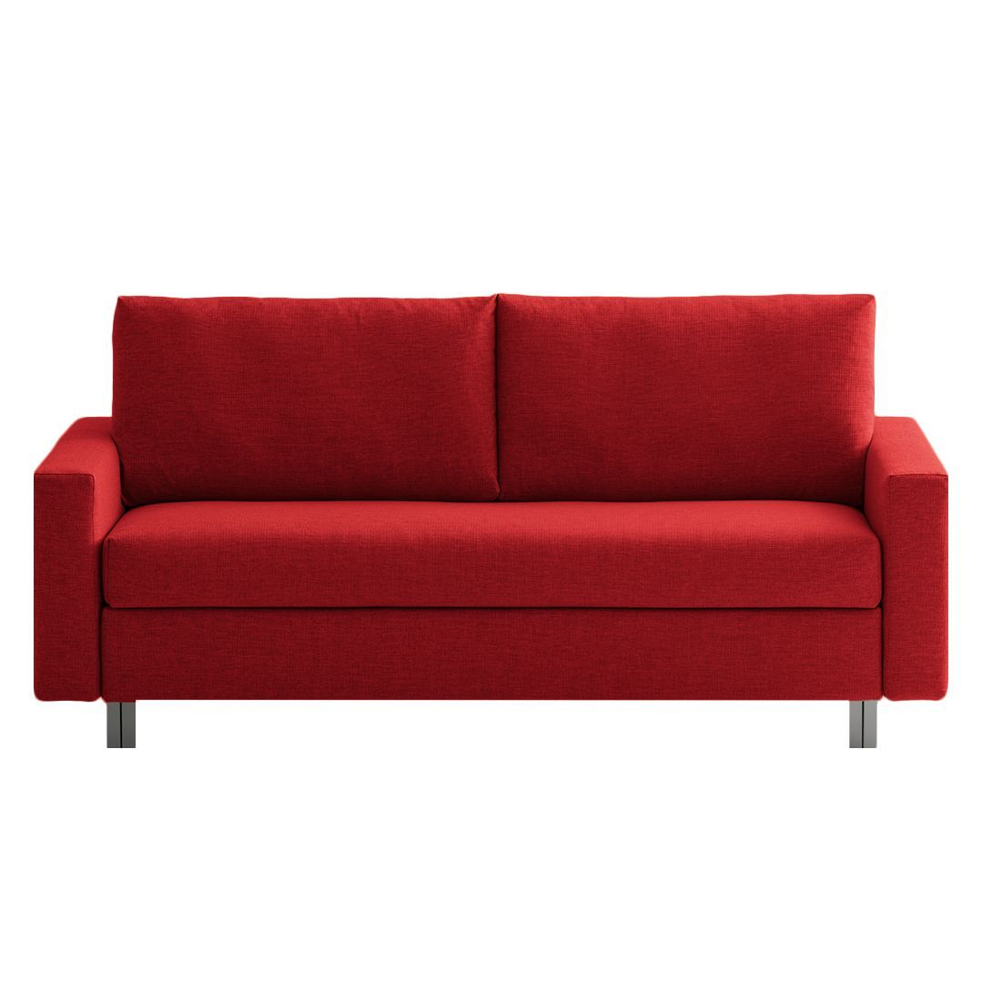 Schlafsofas Gute Qualität Schlafsofa Aura - Webstoff - Rot - 176 Cm, Chillout By