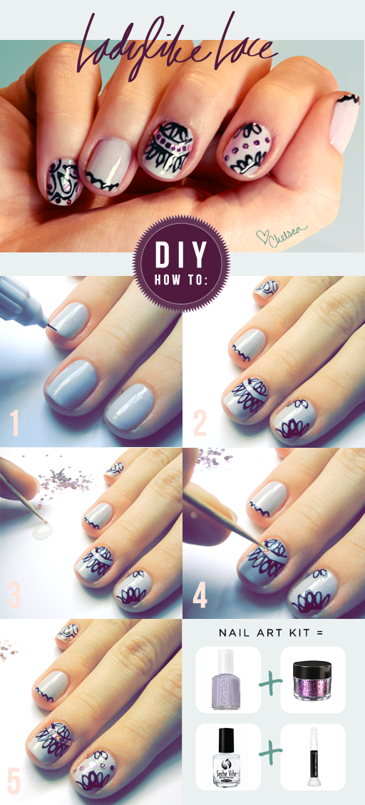 19 Life Changing Hacks For Doing Your Nails Lace Nails Lace Nail
