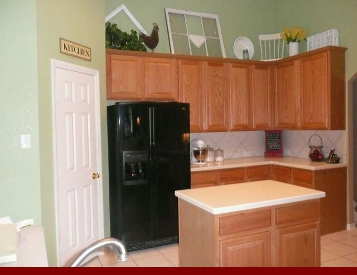 Consider - glaze on honey oak cabinets. #honeyoakcabinets