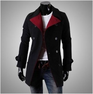Detalles acerca de Turndown Men's double-breasted jackets slim Fit ...