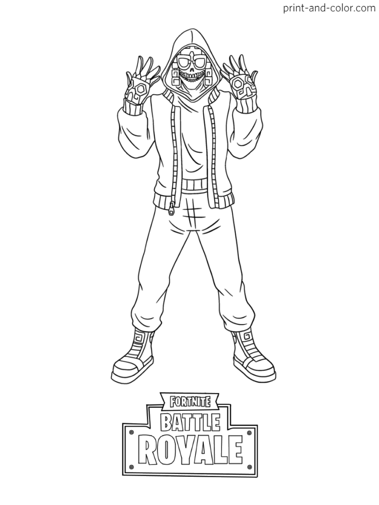 Fortnite Coloring Pages Raskraski Kartinki Cherep