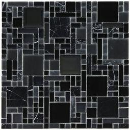 Pattern La Notte Mosaic Glass And Stone Tile 8mm Floor Decor