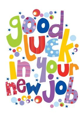 Good Luck In Your New Job Colorful Clipart | Job related ...