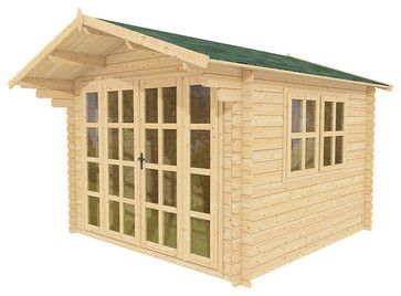 Charming Joy 10 X 10 Wood Shed / Guest Cottage   Tropical   Sheds   Other Metro   ECO  Garden Sheds
