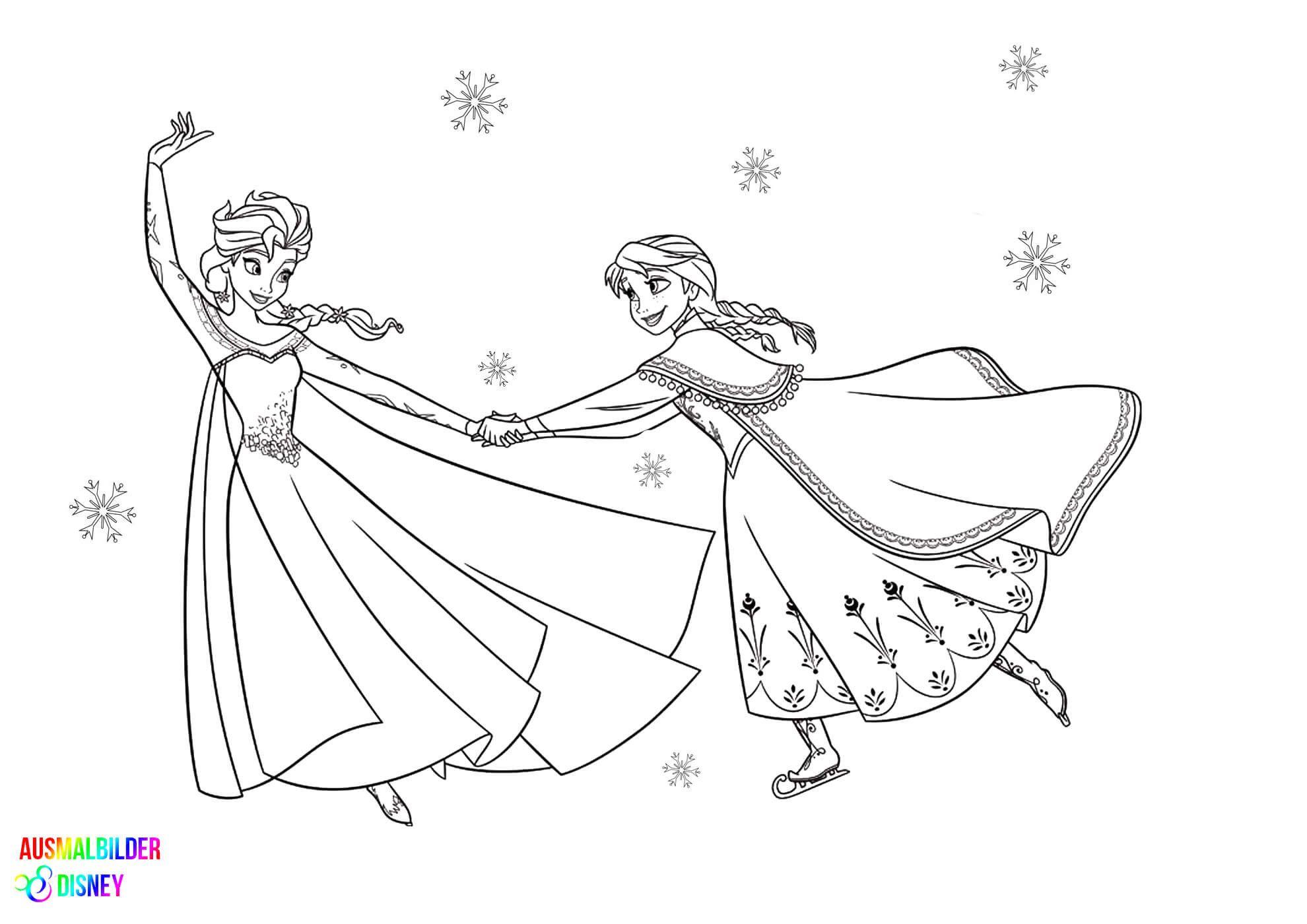 Malvorlagen Frozen Ausmalbilder Anna Und Elsa Elsa Ausmalbild Ausmalbilder