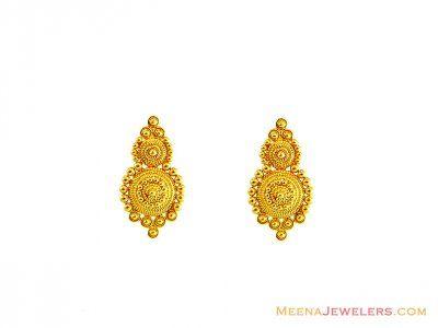 22d56517e 22K Gold Earrings ( 22 Kt Gold Tops ) | jewelry in 2019 | Earrings ...