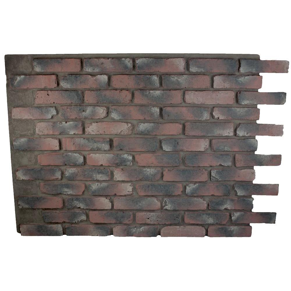 Superior Building Supplies Faux Reclaimed Brick Chicago Red 32 In