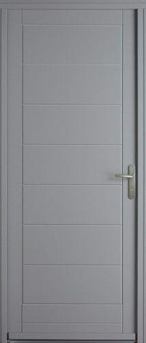 porte bois porte entree bel 39 m contemporaine poignee plaque couleur argent sans vitrage. Black Bedroom Furniture Sets. Home Design Ideas
