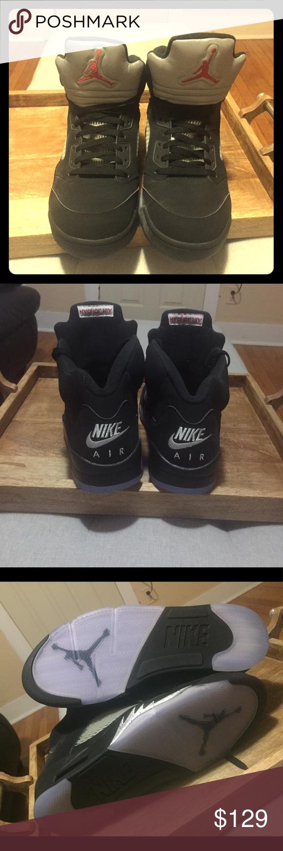 new style 0e48d 09da0 Nike Air Jordan Retro 5 Black metallic OG - black with photo reflective  tongue. Size 13 Men s- never worn Nike Shoes Sneakers