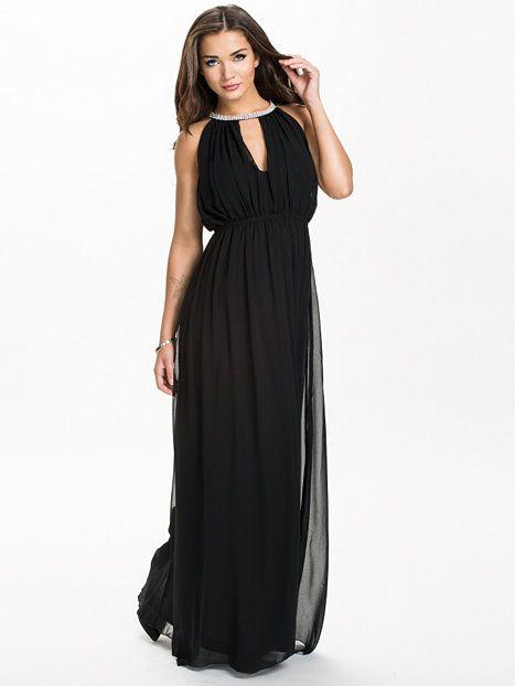 817b4f8c3ac92a Necklace Long Dress - Nly Eve - Svart - Festklänningar - Kläder - Kvinna -  Nelly