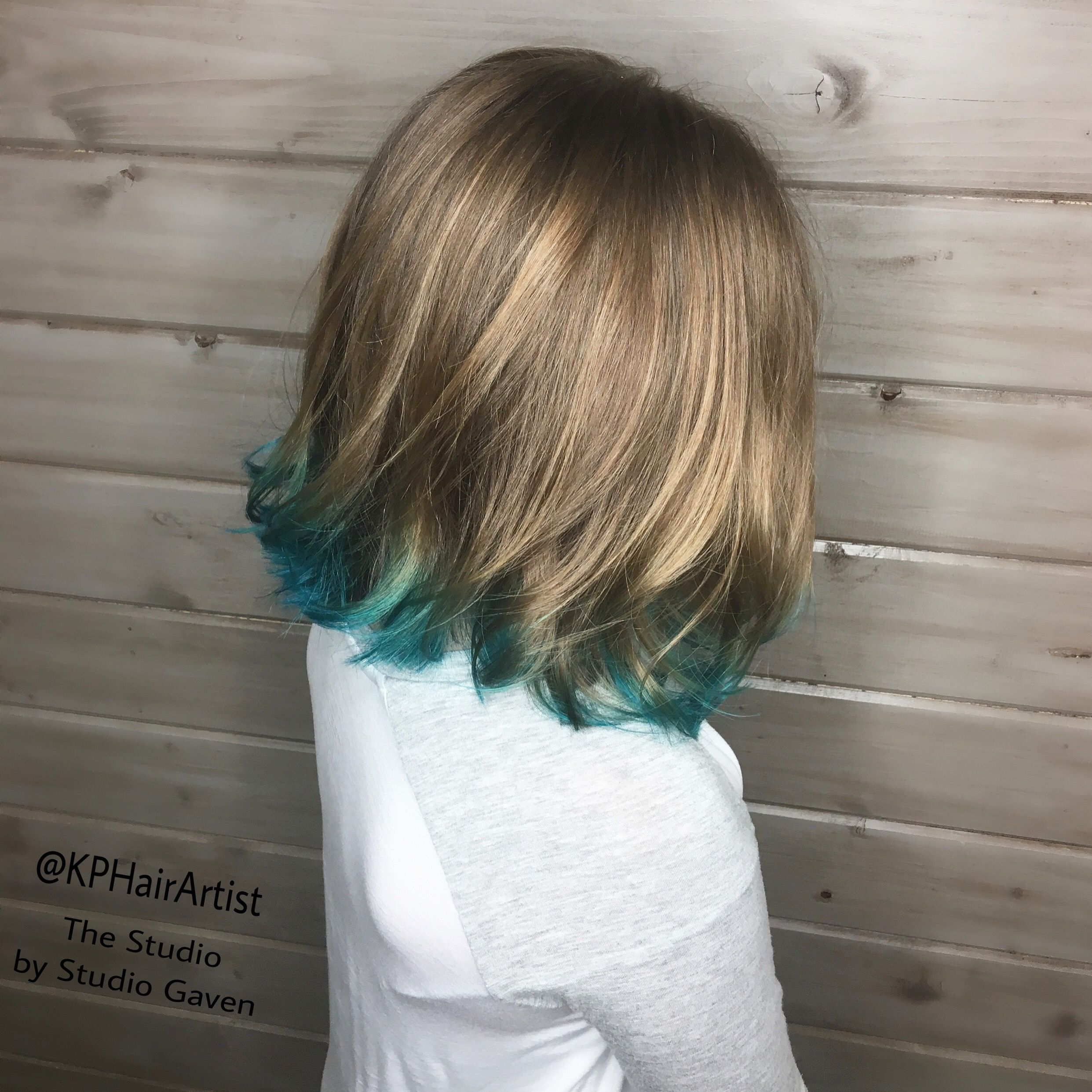 Teal Tipped Hair A Pop Of Color For Summer 2017 Studiogaven Nashvillehairstylist Hair Styles Long Hair Styles Hair Stylist