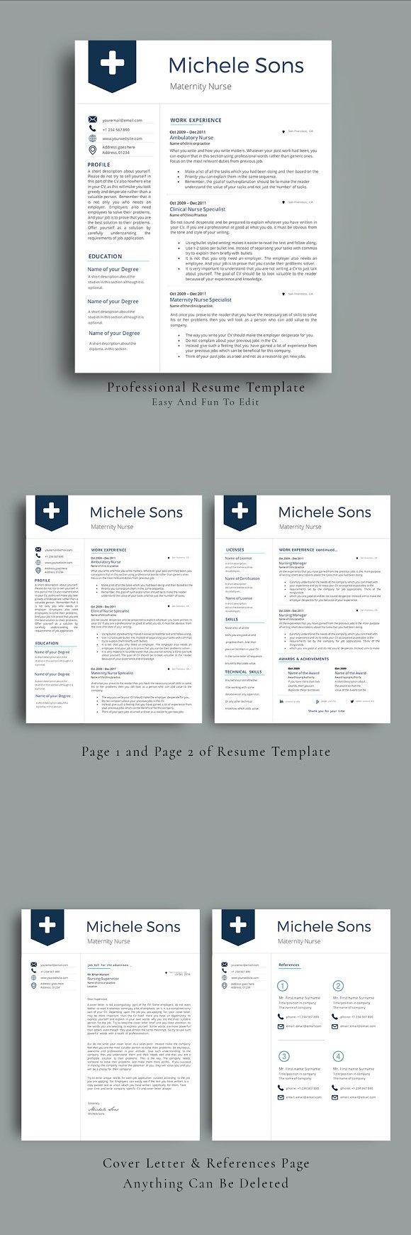 Professional Nurse Resume Template Nursing resume