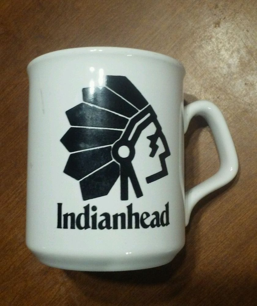 Ceramic white Coffee Cup Mug with Indian head and ...