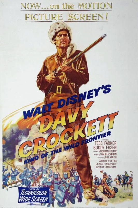 images of fess parker in the wdw movie the alamo | Davy Crockett Alamo Disney Re