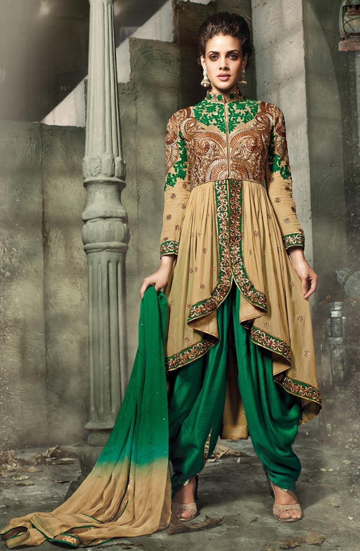fd0766cddc Beige designer dhoti style wedding salwar kameez E15175 | Wardrobe ...