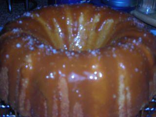 Salted Carmel Bundt Cake