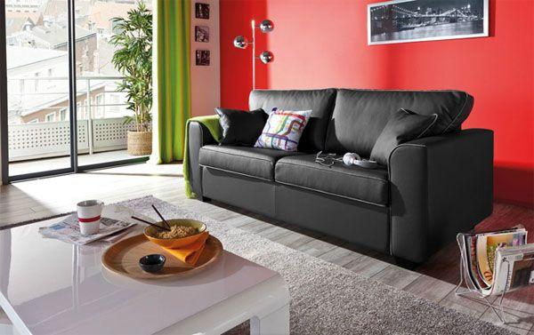 mur rouge quelles couleurs lui associer dans une pi ce vivre satin rouge pinterest. Black Bedroom Furniture Sets. Home Design Ideas