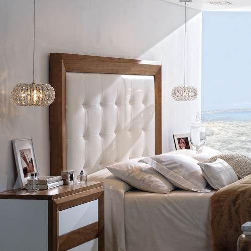 Cabezal tapizado a estilo capitone de 177 cent metros de - Cabezal de cama tapizado ...