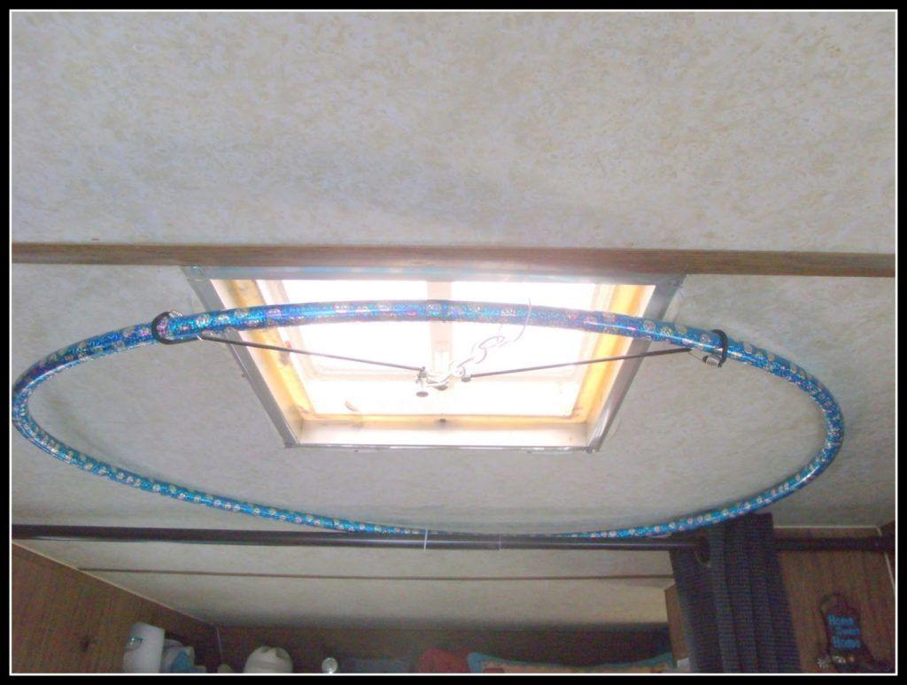 Hula Hoop Shower Curtain Rod Shower Curtain Rods Diy Curtain