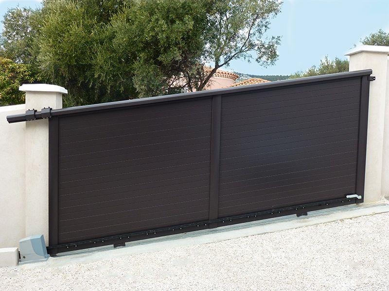 vente portail coulissant sliduup by mantion kit pour portail coulissant sur rail au sol de with. Black Bedroom Furniture Sets. Home Design Ideas