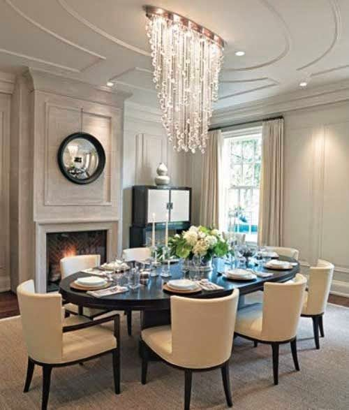 Georgian Style Homes And Interior Dining Room Furniture With Classic Chandeliers