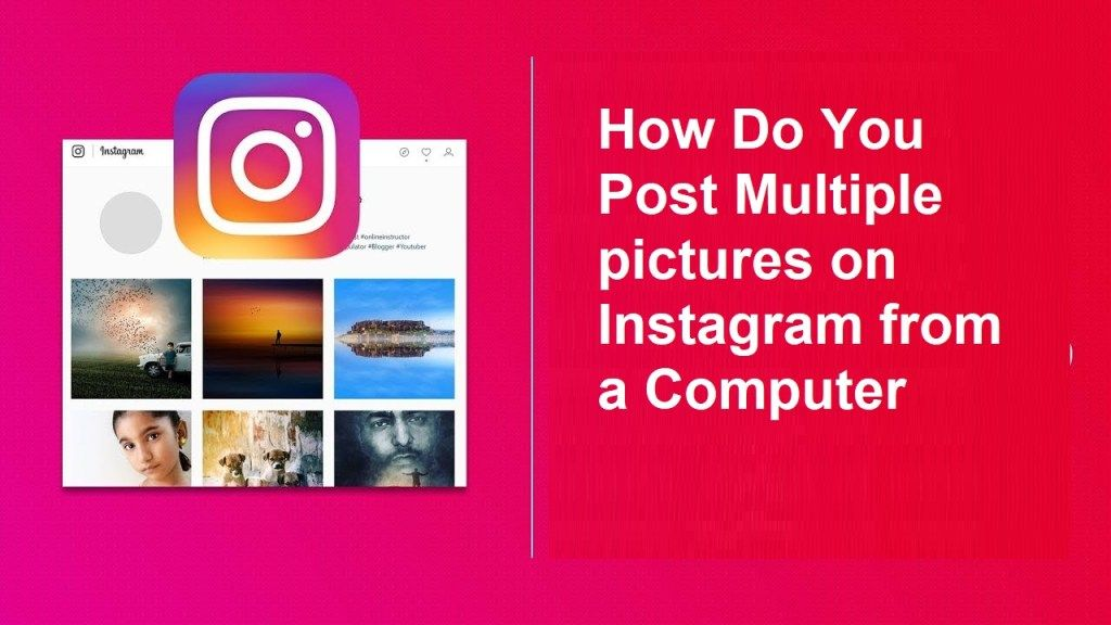How do you post multiple pictures on instagram from a