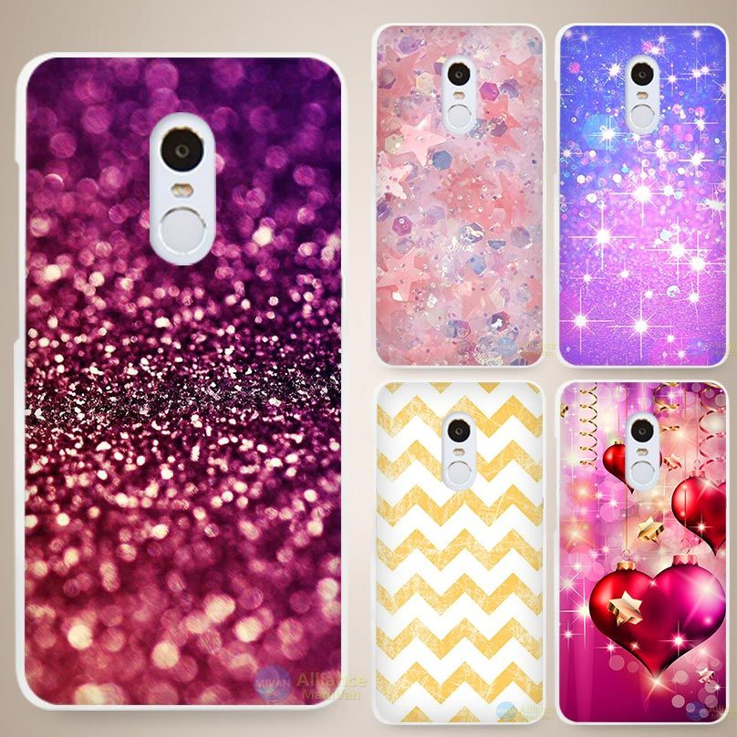buy online 0b595 162ce Fade gold Bling Print Hard White Cell Phone Case Cover for Xiaomi Mi ...