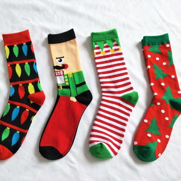 a8db075eed Be riotous with colour New Pattern Christmas Series Pure Cotton In  Personality Cartoon Man happy Male Socks | socks | Socks, Patterned socks,  Funny socks