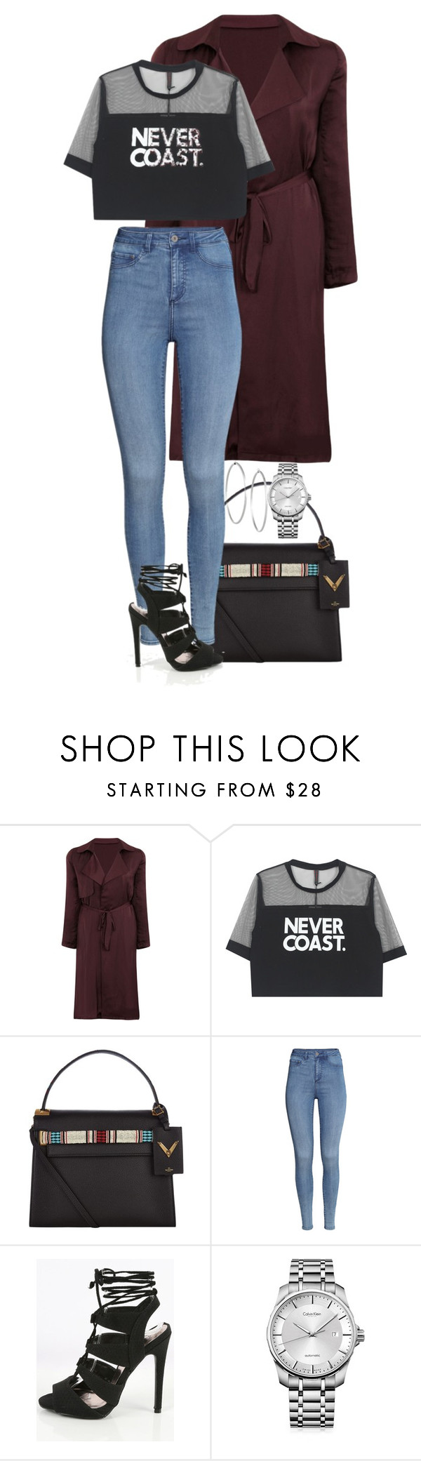 """""""90224"""" by sultrysalem ❤ liked on Polyvore featuring Valentino, H&M, Calvin Klein and Jennifer Fisher"""