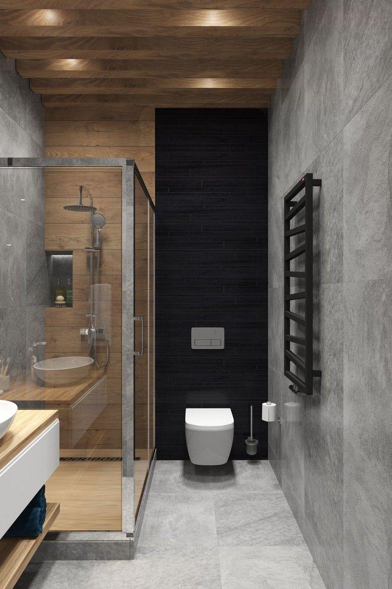 Photo of Salle de bain gris et bois : idées et astuces pour une déco épurée,  #astuces #bain #bois