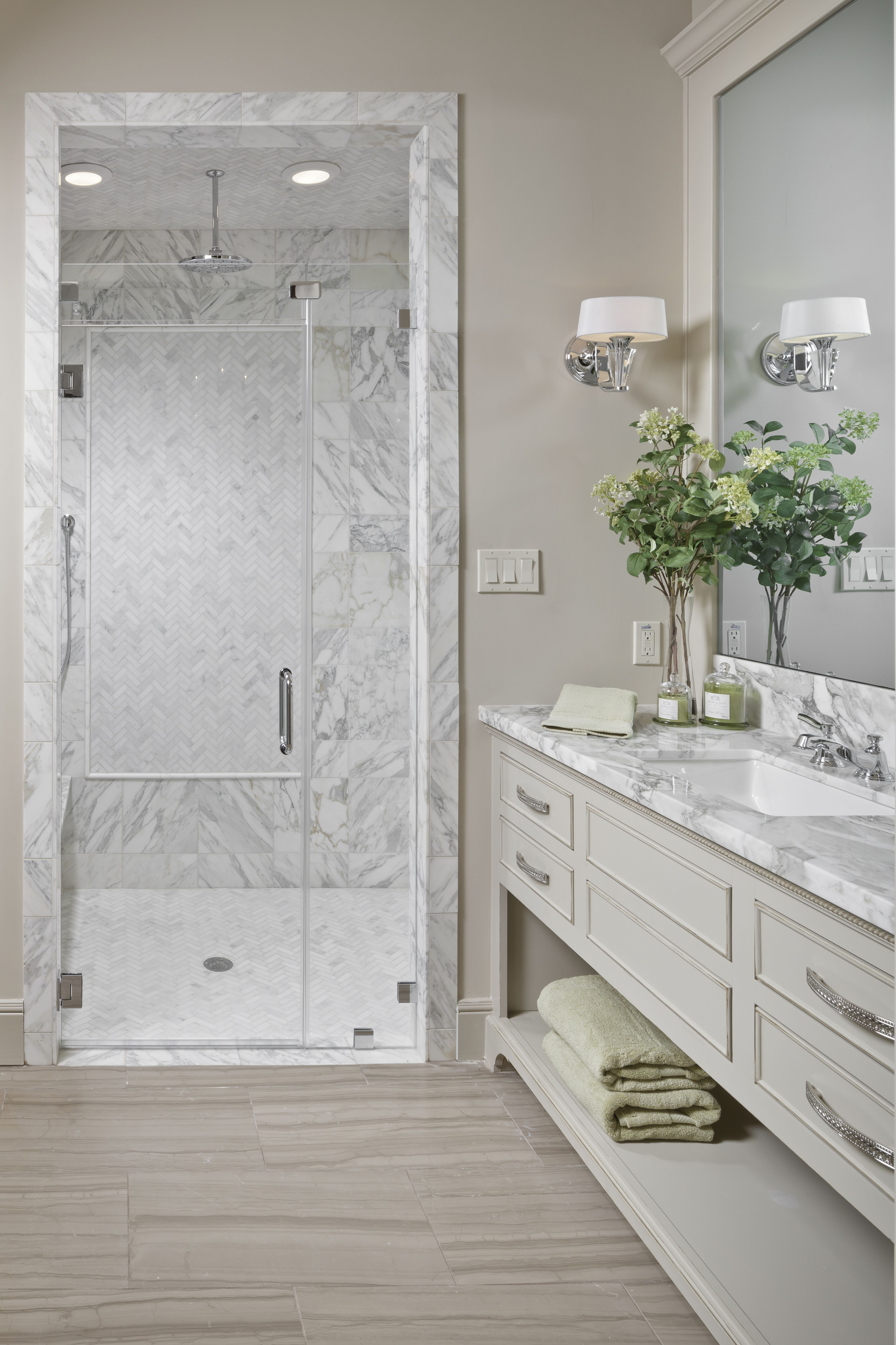 One view of the Master Bath: isn\'t that walk-in shower stunning ...